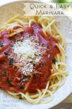 Quick And Easy Marinara