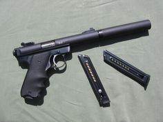 Here's my Ruger MKII lower with a Tactical Solutions Pac-Lite upper and Gemtech Suppressor.