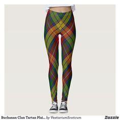 Buchanan Clan Tartan Plaid Pattern Leggings