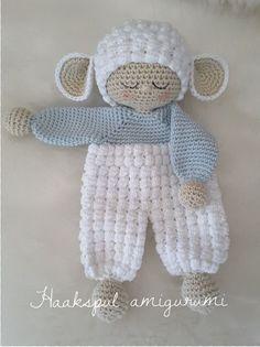 Bear Lovey Security Blanket Crochet Crochet Baby Lovey Crochet Bear Lovey Animal Lovey Baby Shower G Crochet Bear Patterns, Crochet Lovey, Crochet Baby Toys, Crochet Amigurumi, Crochet Bunny, Love Crochet, Amigurumi Patterns, Crochet Animals, Baby Blanket Crochet