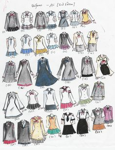 school uniforms | school uniforms 2nd edition by NeonGenesisEVARei on deviantART