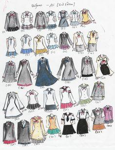 school uniforms 2nd edition by NeonGenesisEVARei on deviantART