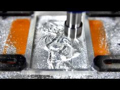 Mobile CNC ROUTER Engraver Machine cut Aluminum 3D Sexy Girl - YouTube