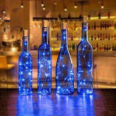 AGPtek Cork Shape Lights Bottle Mini String Light 30 Inch For Decoration - Blue Image 1 of 7 So Galaxy Wedding, Starry Night Wedding, Decor Eventos, Starry Night Prom, Starry Nights, Blue Wedding Centerpieces, Royal Blue Wedding Decorations, Blue Party Decorations, Centerpiece Ideas