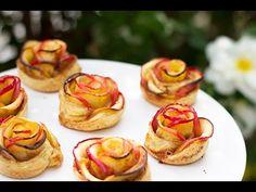 Roses aux pommes faciles a faire avec des pommes et de la pâte feuilletee ! Effet garanti !