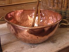 French copper patisserie's bowl