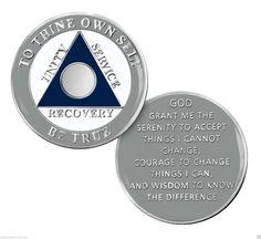 "/""Steps//Change//Recovery/"" Native American Theme AA Program Enamel Coin//Medallion"