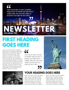 Blue Company Newsletter Design Template Click To Customize