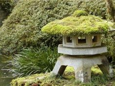 Moss-Topped Japanese Pagoda