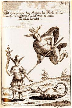 magictransistor:      Abraham Eleazar. 'Mercurius Volatile: Uraltes Chymisches Werke.' (Leipzig, 1760)      (Alexander Roob, Alchemy & Mysticism, Taschen, 1997, p. 205)