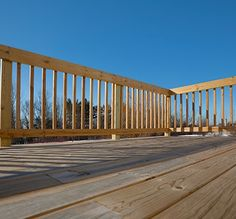 Before the summer entertaining season begins, tighten wobbly deck rails by drilling inch carriage bolts through the tops and bottoms, straight into the framing.