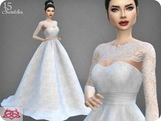 Sims 4 CC's - The Best: Weddingdresses by Colores Urbanos