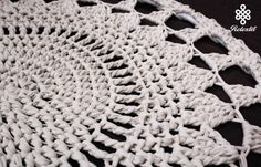 Mandala de ganchillo Swing silla de ganchillo blanco