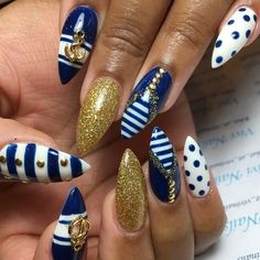 Instagram photo by nailsyulieg navy blue xx nude for 3d nail art salon new jersey