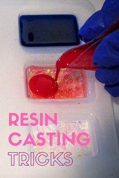 Resin casting tricks. Learn resin casting tricks from some of the resin community's experts. Includes pictures and detailed explanations.