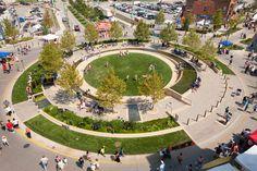 The Circle, Uptown Normal by Hoerr Schaudt Landscape Architects | Parks
