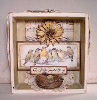birds shadow box