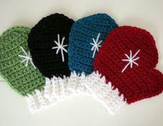 crochet mitten coasters