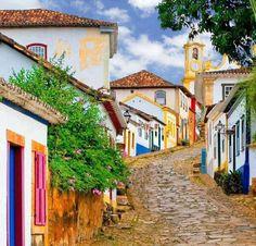 colourful windows in Tiradentes, Minas Gerais, Brazil Places Around The World, Travel Around The World, Around The Worlds, Places To Travel, Places To See, Travel Route, Travel Destinations, Brasil Travel, Mexico Travel