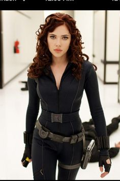 Black widow costume. This is a really good reference pic
