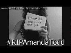 Amanda Todd's Story: Struggling, Bullying, Suicide, Self Harm #RIPAmandaTodd - YouTube