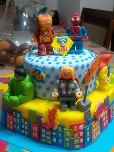 Lego Advengers. Tortas de Mis Dulces Tentaciones de Mary Atencio
