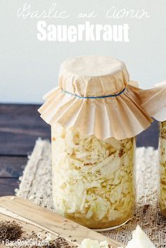 Easy Garlic & Cumin Sauerkraut.  Flavor like you've never had before in a healthy, fermented food!