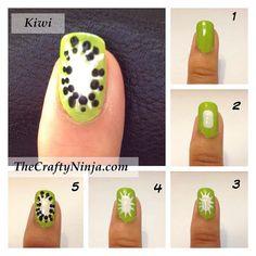Kiwi nails ! :33