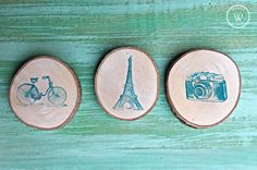 souvenir personalizado rodaja de madera imanes iman souvenir estampado estilo rustico