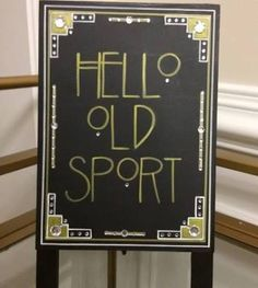 great gatsby hanging party sign - Google Search