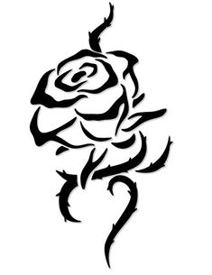 z tattoo designs Black And White Rose Tattoo, White Rose Tattoos, Rose Tattoos For Men, Black Tattoos, Rose Vine Tattoos, Tribal Rose Tattoos, Butterfly Tattoos, Simple Rose Tattoo, Stencil