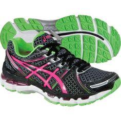 asics womens gel-kayano 19 running shoe hot red