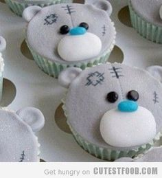 Tiny Tatty Bear 7 Inch Edible Image Cake /& Cupcake Toppers// Baby Shower