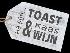 """Dienblad/label """"Toast"""""""