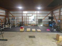 Home Gym Shed Floor - Artus Mahony Basement Workout Room, Home Gym Basement, Home Gym Garage, Workout Room Home, Diy Home Gym, Gym Room At Home, Workout Rooms, Dream Home Gym, Best Home Gym Setup