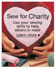 Sewing With Nancy has a large number of ideas and patterns for charity sewing....including my favorite, Little Dresses for Africa.