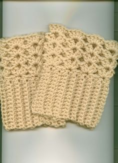 Crocheted Boot Cuffs/Skate Cuffs-  YOU CHOOSE COLOR- Free Shipping US- Gift