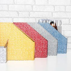 Our useful and stylish magazine files will brighten up any shelf or home office in these eye catching hand drawn spot prints. All our beautiful handmade stationery and storage products are produced in an eco-friendly way, from 100% recycled materials