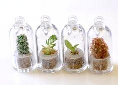 mini plant necklace