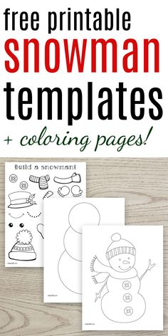 Pin now so you don't lose track of these free printable snowman templates! Snowman patterns for ornaments and kids crafts & snowman coloring pages! Primitive Christmas, Kids Christmas, Primitive Snowmen, Christmas Snowman, Christmas 2019, Merry Christmas, Xmas, Christmas Ornaments, Printable Crafts
