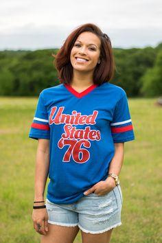 United States 76 ringer jersey t-shirt