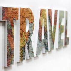 TRAVEL Wall Letters.