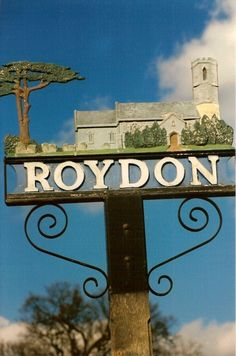 Roydon Village Sign A picture of: Roydon, Norfolk Pictures Of England, Great Yarmouth, England Ireland, English Village, Pub Signs, My Kind Of Town, Seaside Towns, Store Signs, Hanging Signs