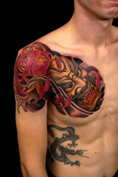 35 Redoubtable Japanese Mask Tattoos – Designs and Ideas