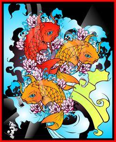 Japanese Coy Fish Art | Japanese Koi Fish part II by bytha