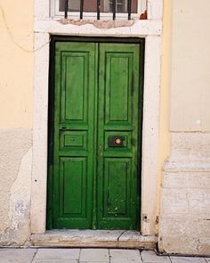 Emerald Green Door Photograph - Athens Greece Photography - Kelly Irish Print  Mediterranean Home Decor Rustic Wall Art Picture of Door