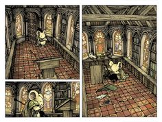 Matriarch's Room from Mouse Guard: The Black Axe  David Petersen's Blog