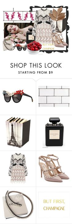 """""""Champagne"""" by pollywantsacracker on Polyvore featuring Anna-Karin Karlsson, Chanel, self-portrait, Valentino and Bliss Studio"""
