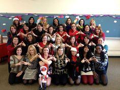 Happy Holidays from Alpha Gamma Delta Beta Upsilon! I love you girls!!