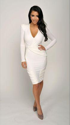 Kim Kardashian s little white dress Kardashian Fashion 59d68603b91f